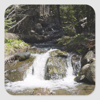 Stream in the Rocky Mountains Square Sticker