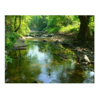 stream near duck hollow postcard