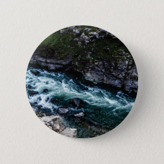 stream of emerald waters 6 cm round badge