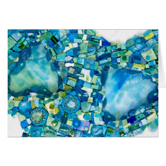 Stream of Life Mixed Media Mosaic Note Card