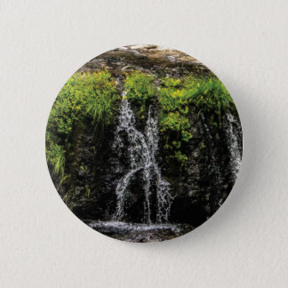 stream trickle falls 6 cm round badge