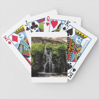 stream trickle falls bicycle playing cards