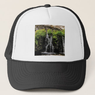 stream trickle falls trucker hat