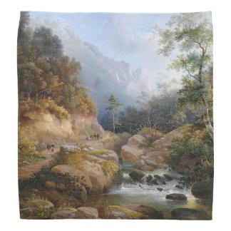 Stream Wilderness Forest Trees Painting Bandana