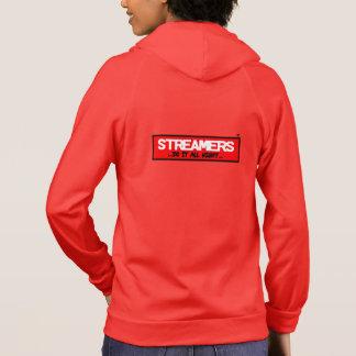 Streamers Women's Fleece Zip Hoodie, Red Hoodie