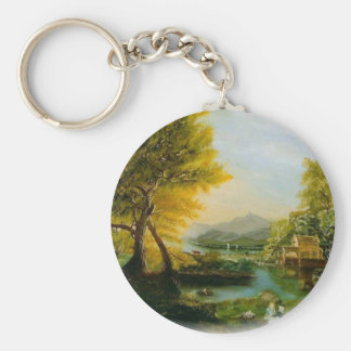 Streamside Basic Round Button Key Ring