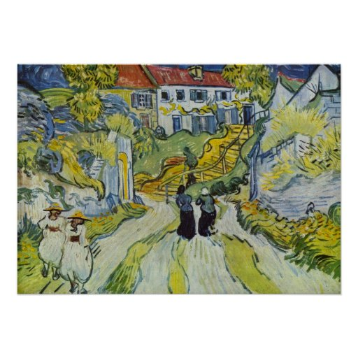 Street and road in Auvers by Vincent van Gogh Posters