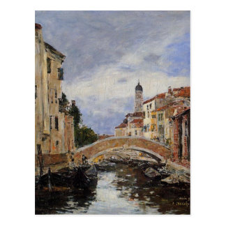 Street, Antibes by Eugene Boudin Postcard