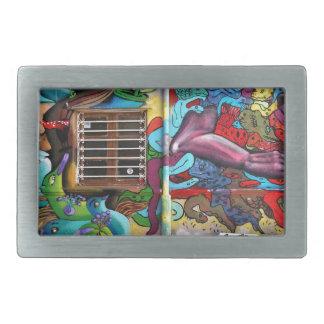 street art 8 rectangular belt buckles