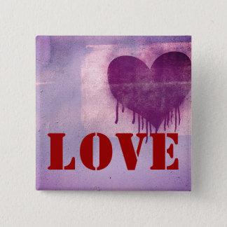 Street Art Heart Love 15 Cm Square Badge