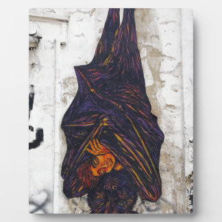 Street art mural flying fox (fruit bat) fantasy plaque