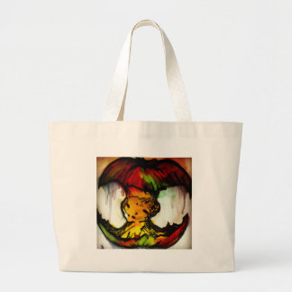 Street art style apple core bag