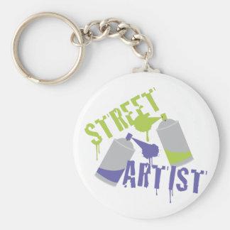 Street Artist Basic Round Button Key Ring