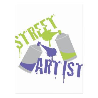 Street Artist Postcard