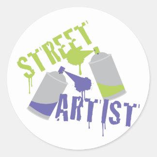 Street Artist Round Sticker