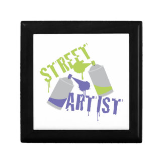 Street Artist Small Square Gift Box