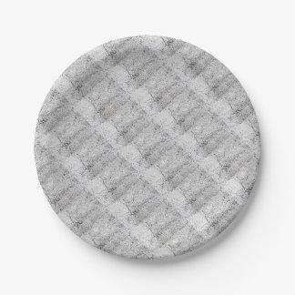 Street asphalt cracks texture 7 inch paper plate