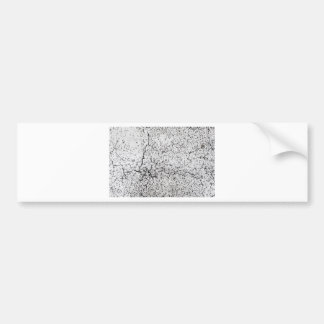 Street asphalt cracks texture bumper sticker
