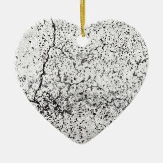 Street asphalt cracks texture ceramic ornament