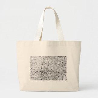 Street asphalt cracks texture large tote bag