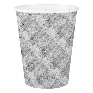 Street asphalt cracks texture paper cup