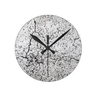 Street asphalt cracks texture round clock