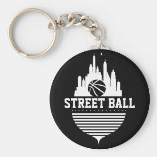 Street Ball Basic Button Keychain