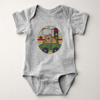 Street Car Bear Baby Jersey Bodysuit