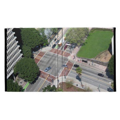 Street Corner In Downtown Los Angeles iPad Folio Case