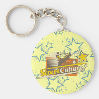 Street Culture Tshirts and Gifts Basic Round Button Key Ring