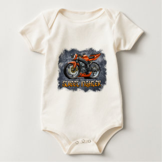 Street_Fighter_Orange Baby Bodysuit
