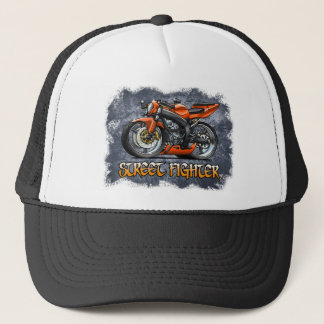 Street_Fighter_Orange Trucker Hat