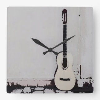 """Street Guitar"" Wall Clock"