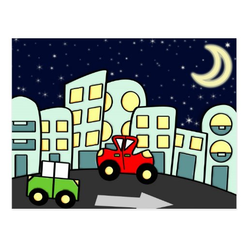 Street illustration post cards