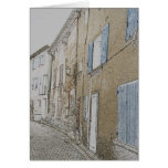 street in an old village in the Provence Greeting Card