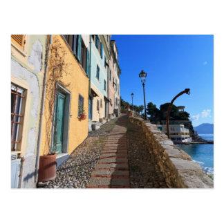 street in Bogliasco, Liguria, Italy Postcard