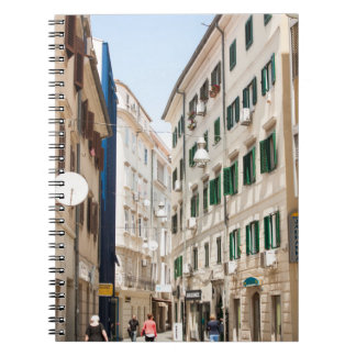 Street in Croatia Rjeka Europe Spiral Notebook