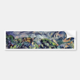 Street In Front Of The Mountain Sainte Victoire Car Bumper Sticker