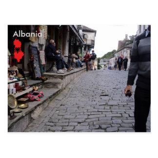 Street in Gjirokastër, Albania Postcard
