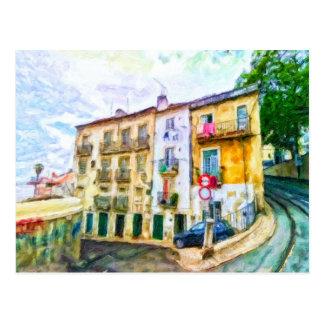 Street In Lisbon Portugal Postcard