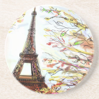 Street In Paris - Illustration 2 Coaster