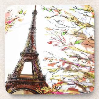 Street In Paris - Illustration 2 Beverage Coaster