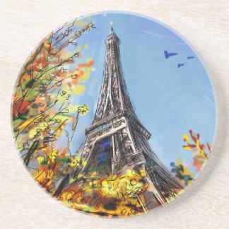 Street In Paris - Illustration Coasters
