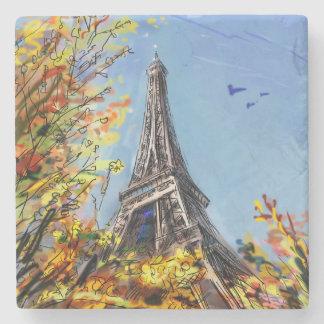 Street In Paris - Illustration Stone Coaster