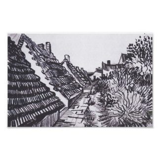 Street in Saintes-Maries by Vincent van Gogh Photo Print