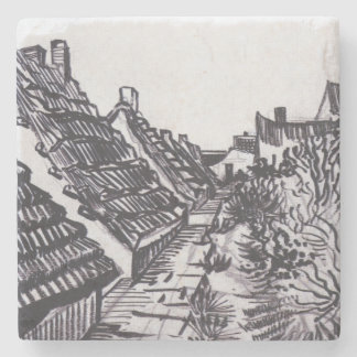 Street in Saintes-Maries by Vincent van Gogh Stone Coaster