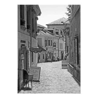 Street in the town of Cesky Krumlov Photo Print