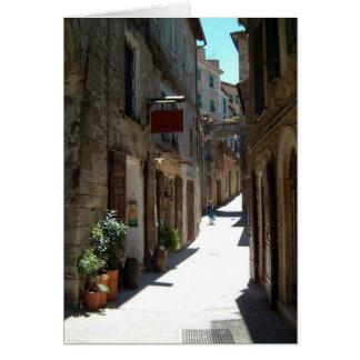 street in tuscany card