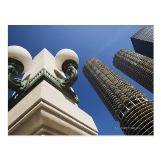 Street lamp detail at Marina City Towers Chicago Postcard