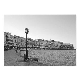 Street lamp on the sea promenade photo print